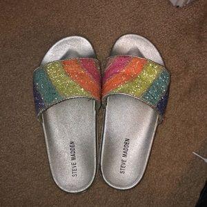 Steve Madden Slides Rainbow